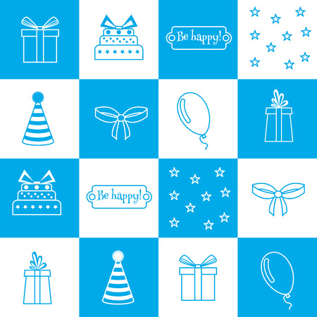 birthday background: Vector seamless pattern Birthday card, birthday party