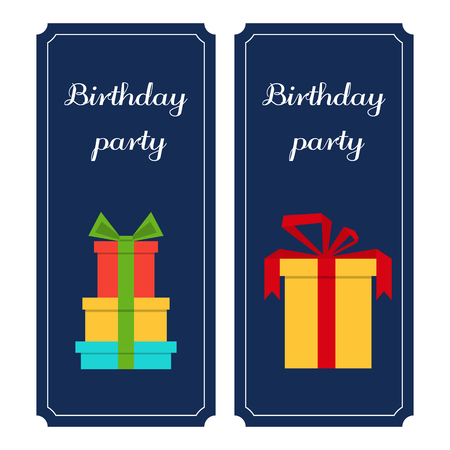 birthday party: Vector flyers, vertical banners birthday birthday party.