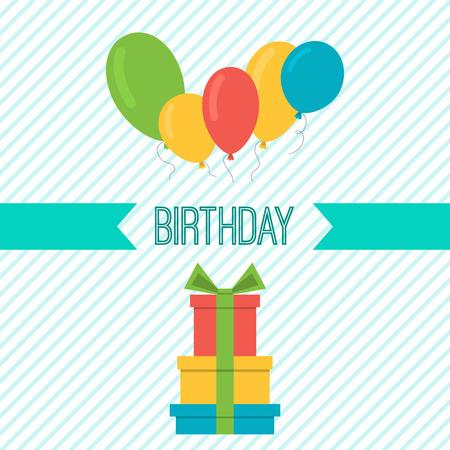 Vector folletos fiesta de cumpleaños. Tarjeta del feliz cumpleaños