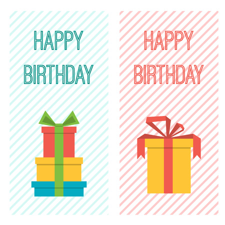 Vector flyers, vertical banners birthday birthday party.