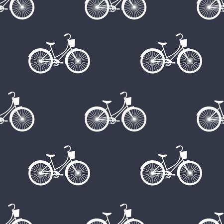 vector seamless spring pattern bikes Illustration