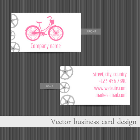 business card. Business card template with touring bikes. Vector