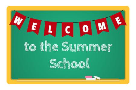 summer school: blackboard stationery Summer School Illustration