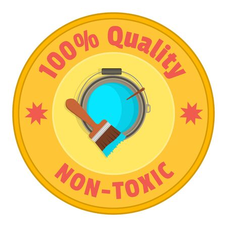 nontoxic: Brush up on the bank with colored paint - the top view. The emblem of quality and non-toxic.