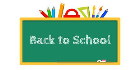 blackboard: ilustración vectorial de una pizarra, papelería regreso a la escuela