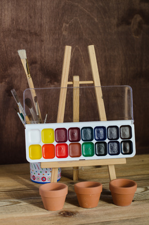 Watercolor paint brushes Photography Art supplies. Drawing tools