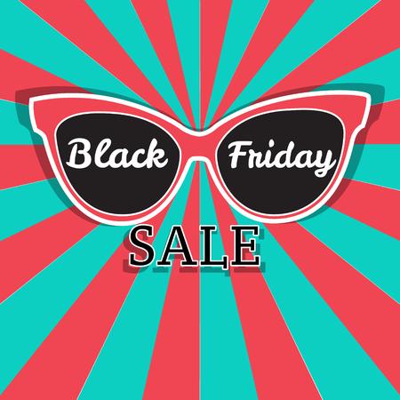 Sunglasses Black Friday sale. Vector sale poster advertising Black Friday.