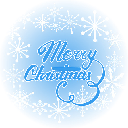 hand lettering: Vector Merry Christmas card. Hand lettering and calligraphy.