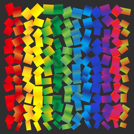 randomly: Vector abstract background - rainbow squares randomly arranged