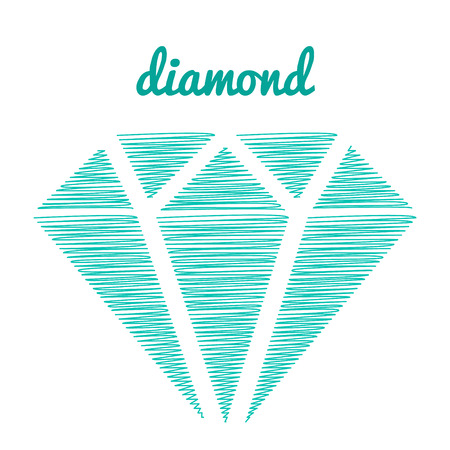 icons of a diamond thread. Hand drawing. diamond cartoon in doodle style Illustration