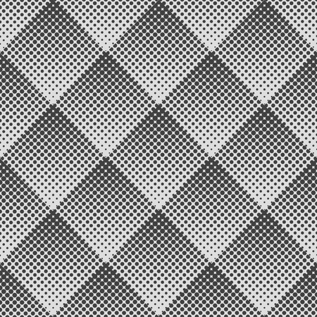 abstract geometric seamless pattern of rhombuses. Gradient Halftone Dot.