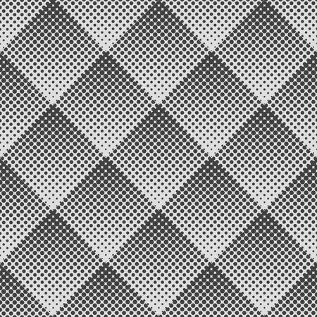 abstract seamless pattern géométrique de losanges. Gradient Halftone Dot.