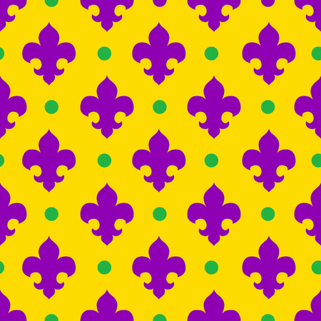royal french lily symbols: Vector seamless pattern royal lily, royal background Illustration
