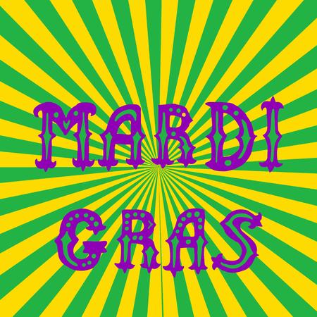 parade confetti: Mardi gras hand lettering. greeting card Mardi gras.