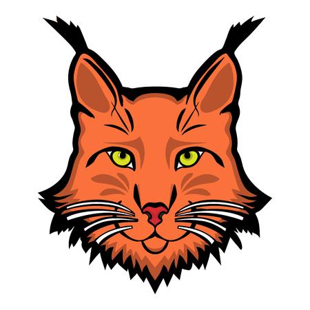 Lynx mascot  . Head of lynx isolated vector illustration.