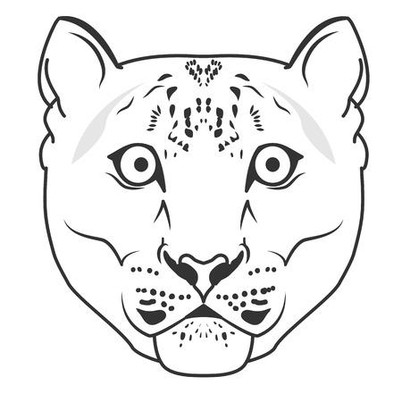 snow leopard: Snow Leopard  Mascot Emblem vector. Snow leopard head