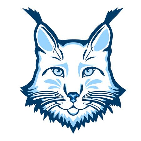 cruel zoo: Lynx mascot logo. Head of lynx isolated vector illustration.