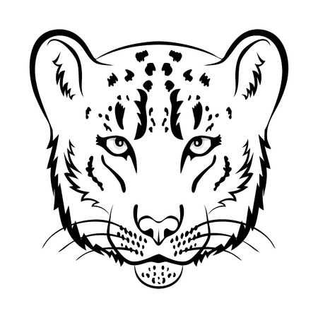 snow leopard: Snow leopard logo mascot. Snow leopard head isolated vector illustration.
