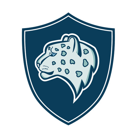 snow leopard: The head of the profile of the snow leopard coat of arms