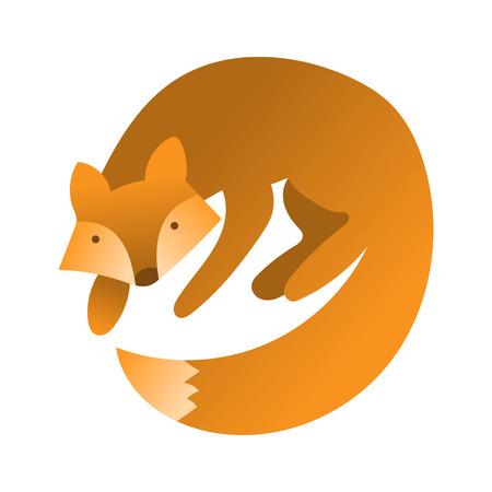 foxy: cute fox. Hand draw cute character for childrens illustration. Fox cartoon mascot
