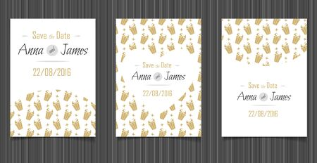 wedding reception decoration: Modern Wedding invitation with a abstract design
