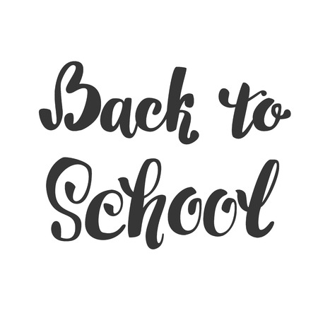 Back to school. lettering inscription isolated.