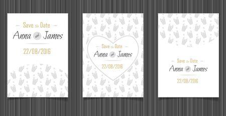 wedding reception decoration: Modern Wedding invitation with a abstract design