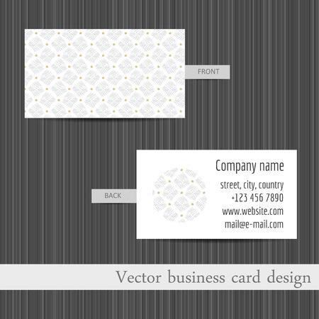 Vector Set De Cartes Visite Modeles Fond Abstrait Clip Art