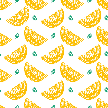 Seamless citrus pattern. Fruit Pattern Hand Draw