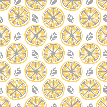 seamless: Seamless citrus pattern. Fruit Pattern Hand Draw