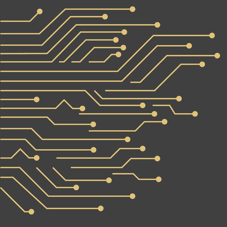 Vector Background with gold circuit board 向量圖像