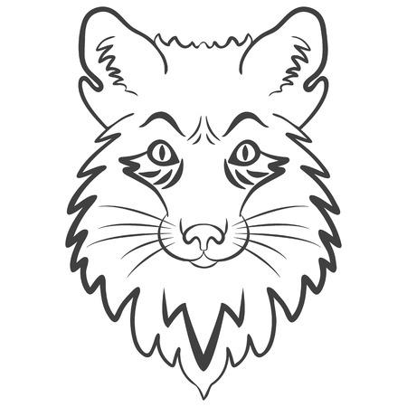 Stilisiertes Maskottchen, Vektorsymbol Vektorgrafik