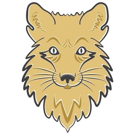 Stylized mascot, vector icon Çizim