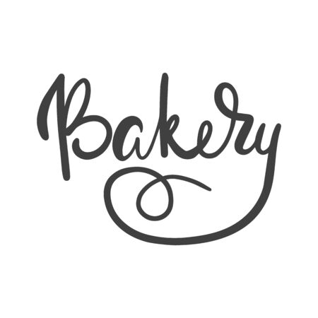 Bakery. Hand lettering ink inscription for decorating a sign for a bakery.