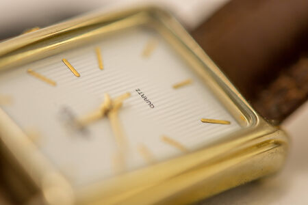 Macro photography of a wristwatch