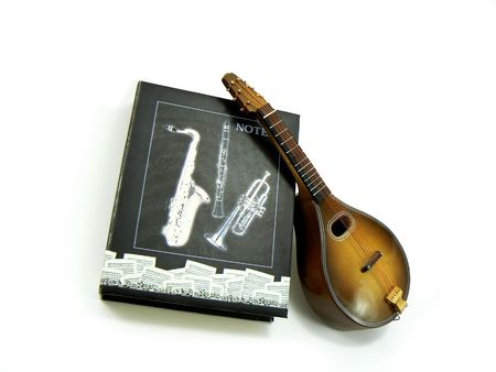 resonate: Miniature violin with notes in a theme box