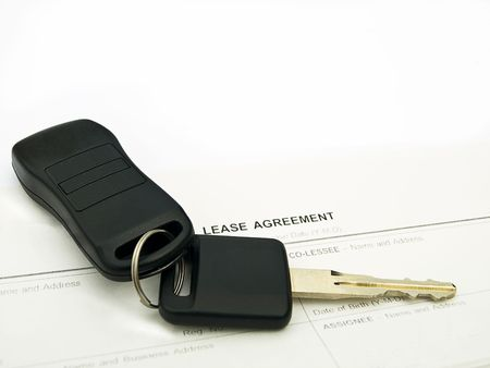 car keys on a lease agreement