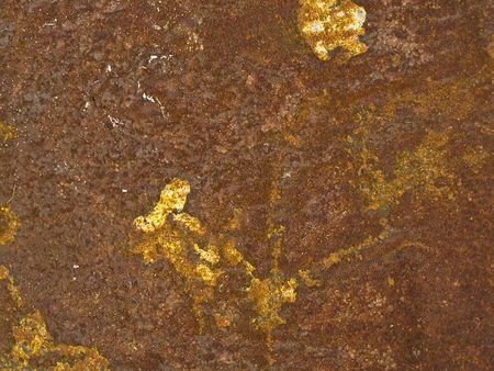 oxidado: Antigua superficie de metal oxidado Foto de archivo
