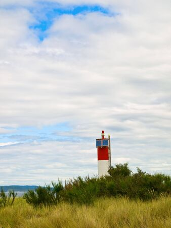 Small lighthouse with solar power source