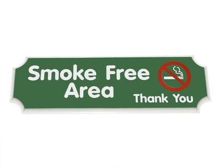Teken rook gebied vrij geïsoleerd over white Stockfoto