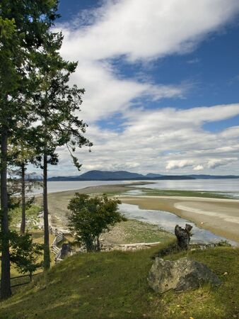 sidney: Sidney Spit island in British Columbia, Canada Stock Photo