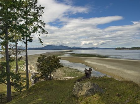 spit: Sidney Spit island in British Columbia, Canada Stock Photo