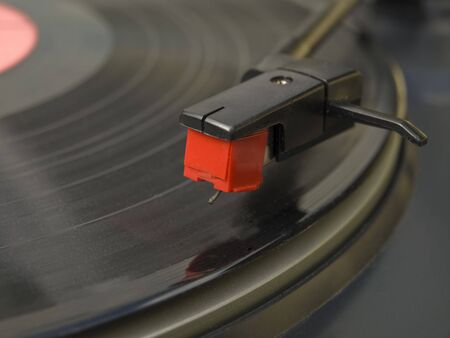 Old vinyl record on a turntable