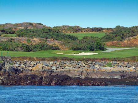 Golf course on the ocean shore