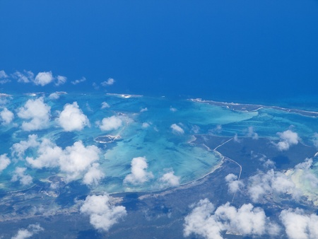 Aerial view of New Providence Island, The Bahamas