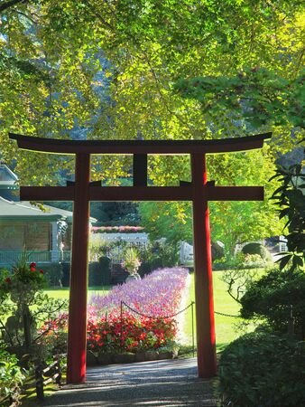Japanese Torii gates indicating the Oriental spiritual path