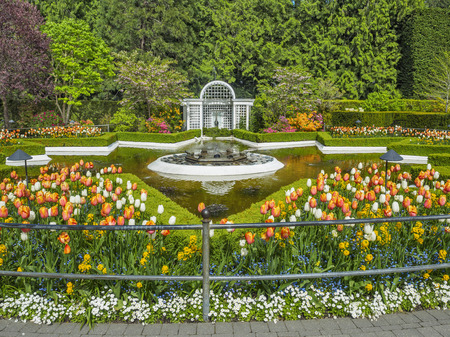 Fountain in Butchart Gardens