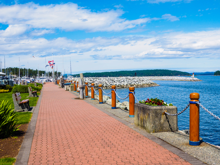 Seaside walk in Sidney BC on Vancouver Island, Canada