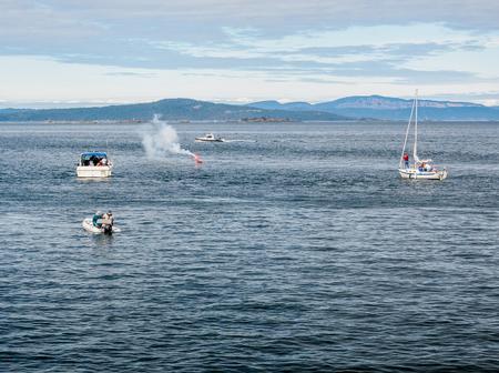lifeline: Navy crew performing water rescue training