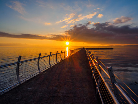 victoria bc: Sunset at the Ogden Point breakwater, Victoria BC